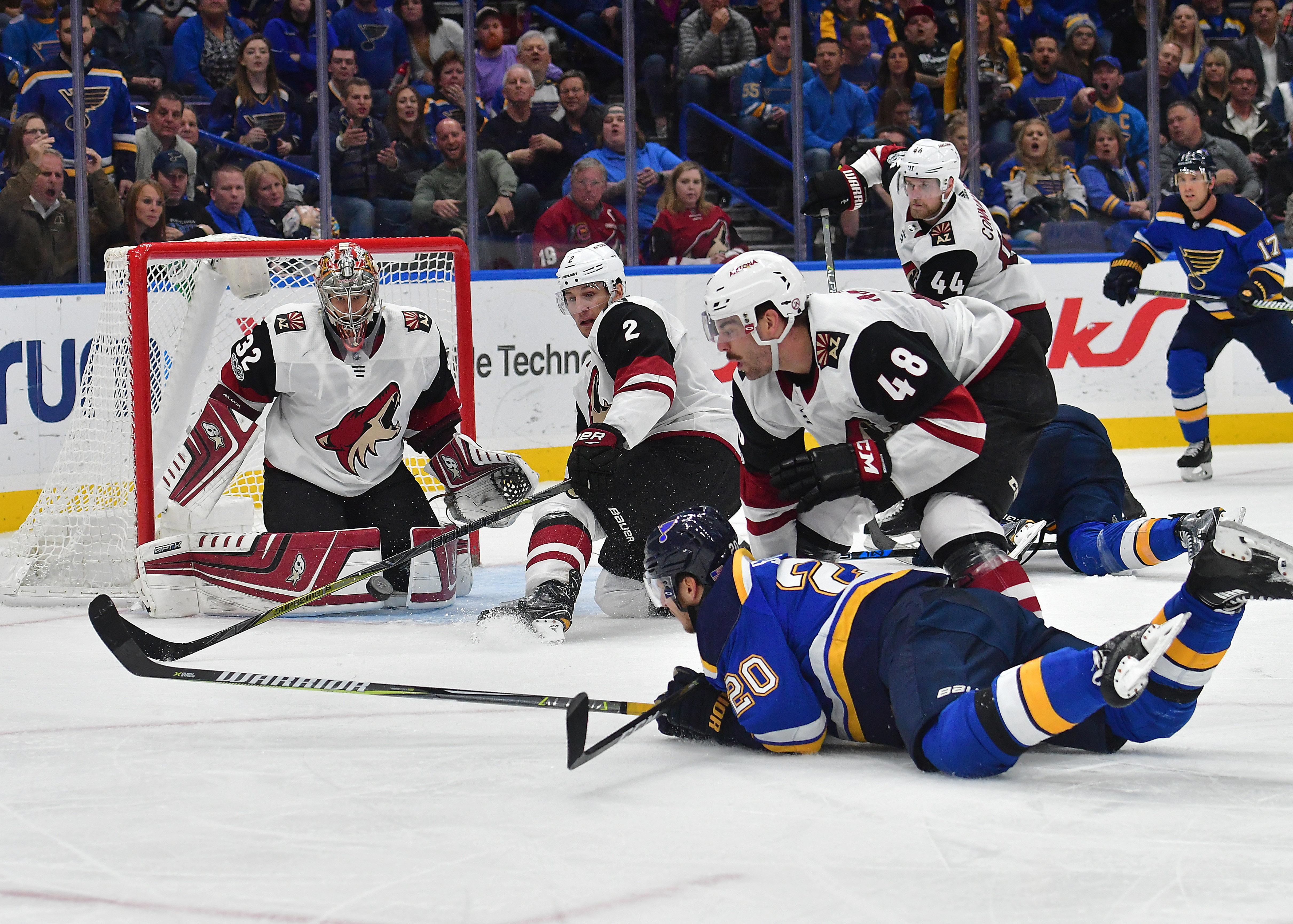 NHL: NOV 09 Coyotes at Blues