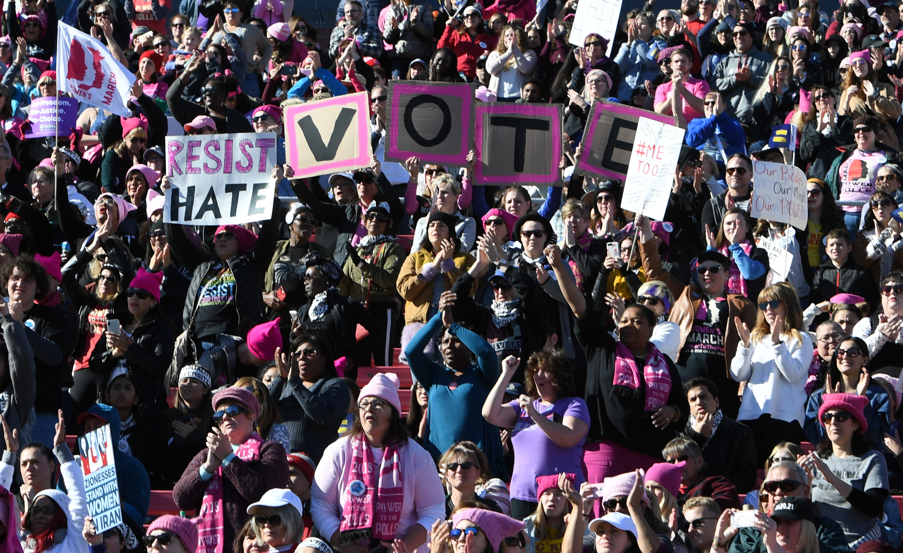 'Power To The Polls' Voter Registration Tour Launched In Las Vegas On Anniversary Of Women's March