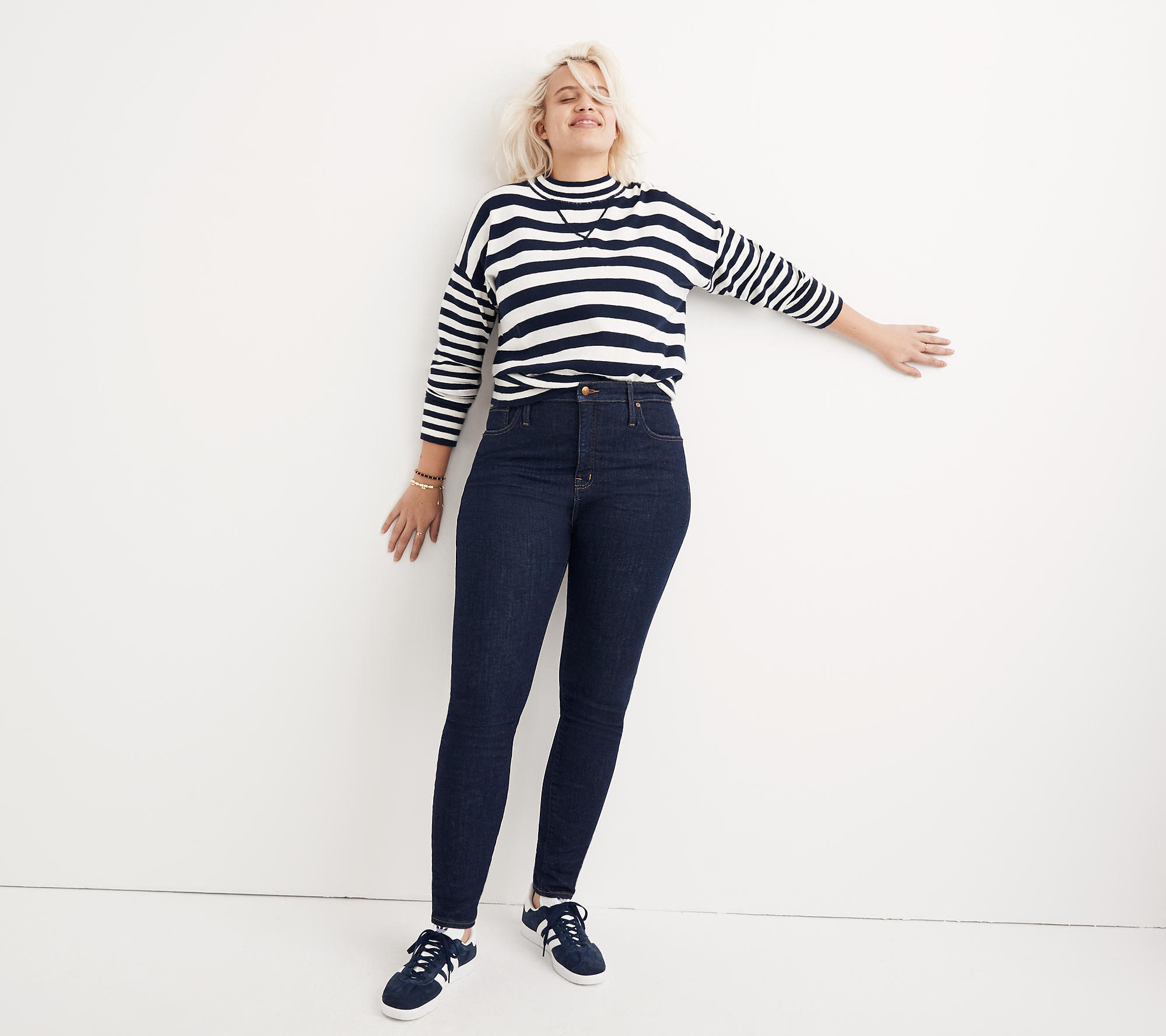 A model wearing Madewell jeans