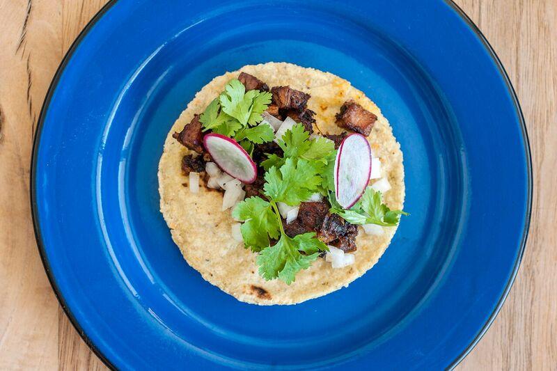 A taco from Dai Due Taqueria