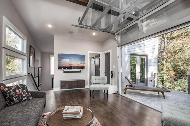 A photo of the top level of a modern home for sale in East Atlanta Village.