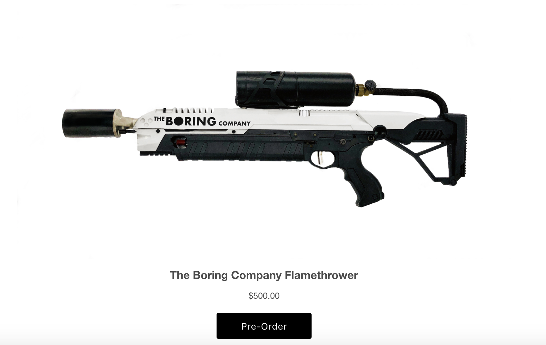 06170800ac4 Here s Elon Musk s  500 Boring Company flamethrower - The Verge