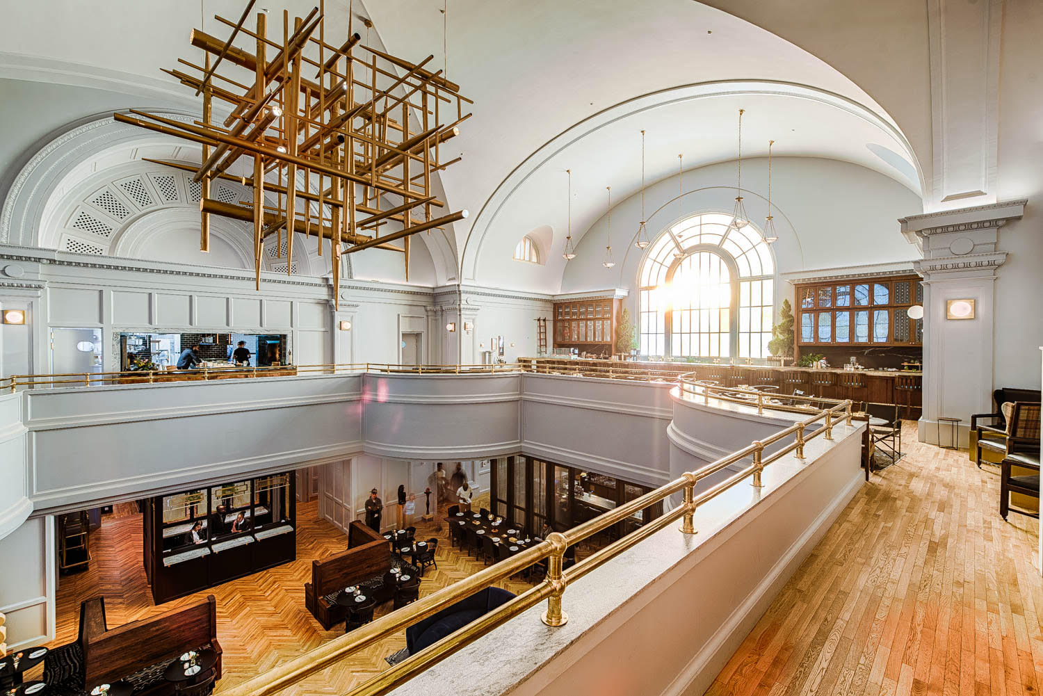 A Rake's Progress was housed on a floor overlooking the lobby at the Line hotel in Adams Morgan
