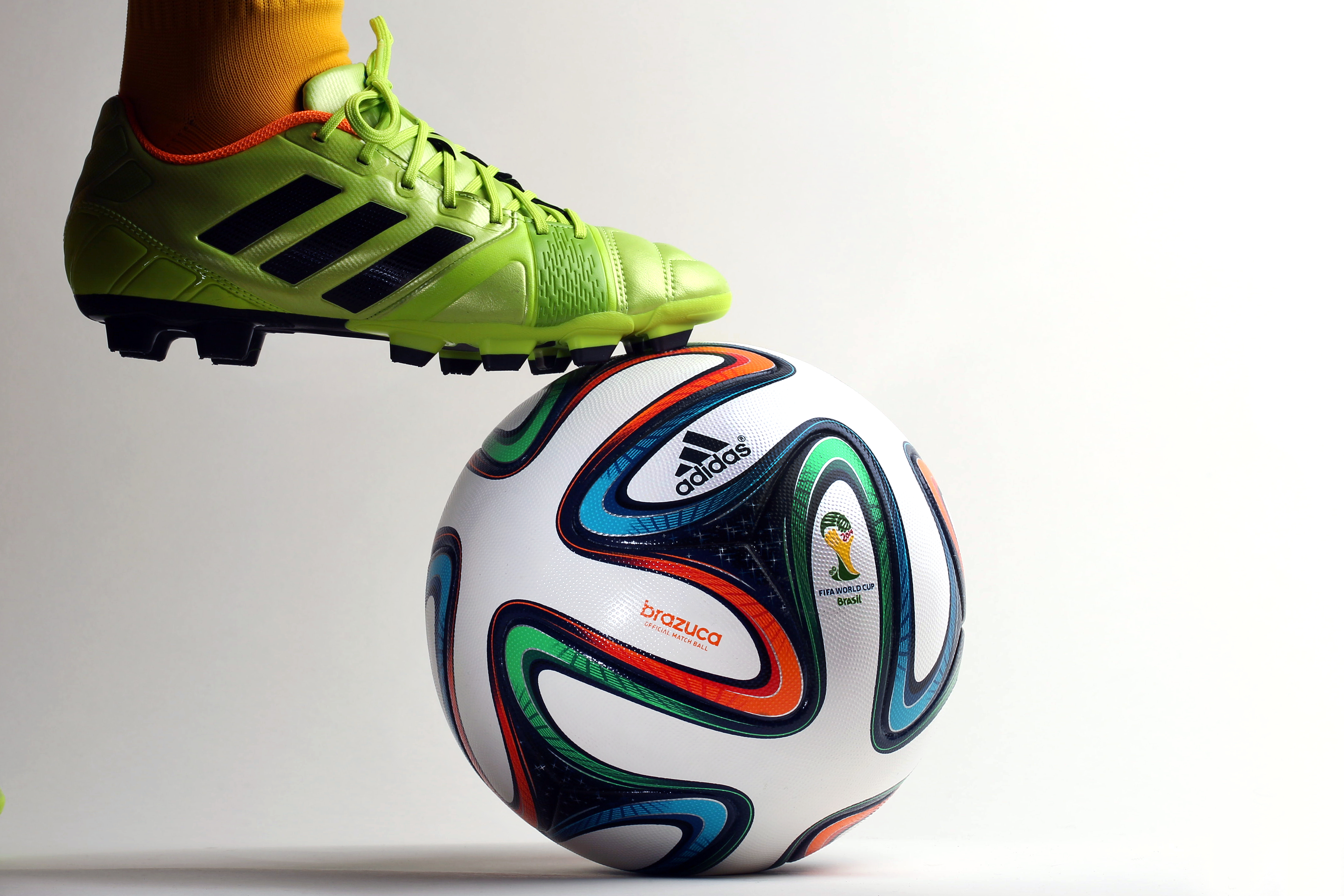 Brazuca football. The official Adidas match ball for the FIFA World Cup Brazil 2014