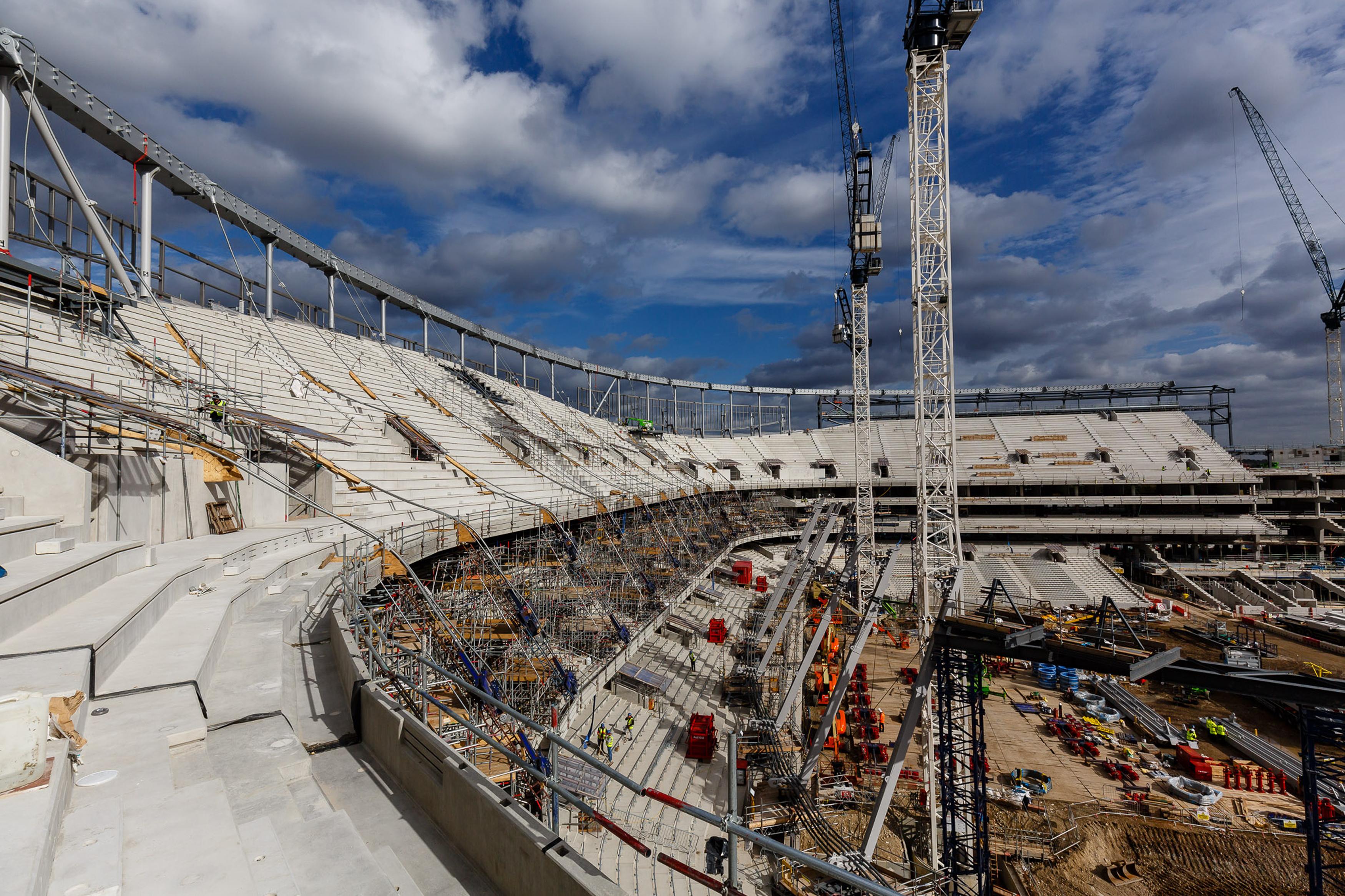 Work Continues On Tottenham Hotspur's New Stadium