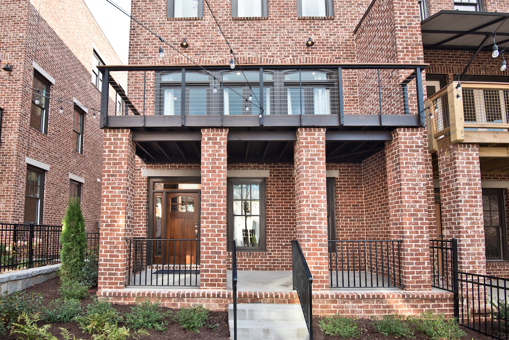 A photo of a new townhome project in Westside Atlanta.