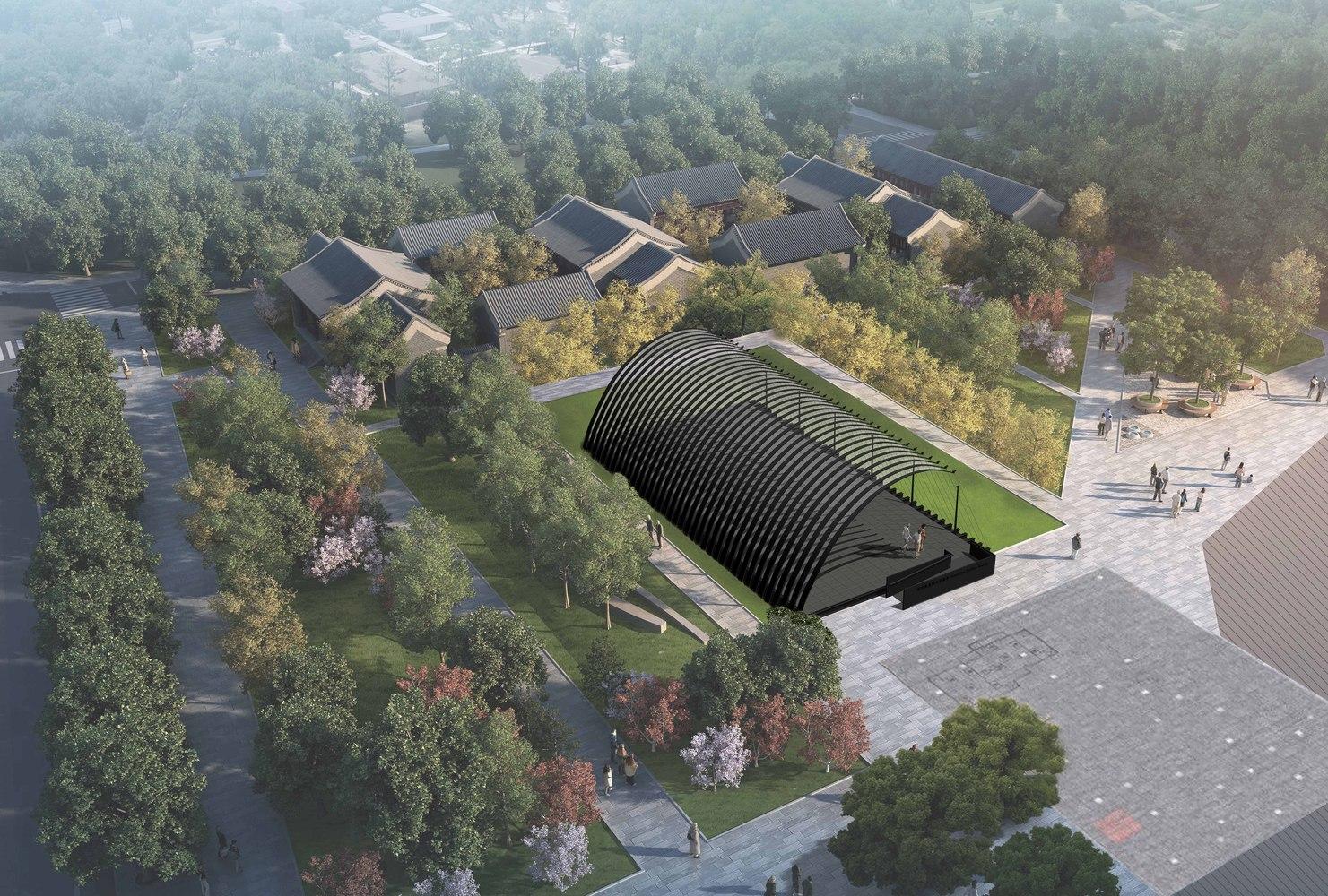 A rendering of the Serpentine Pavilion Beijing design.