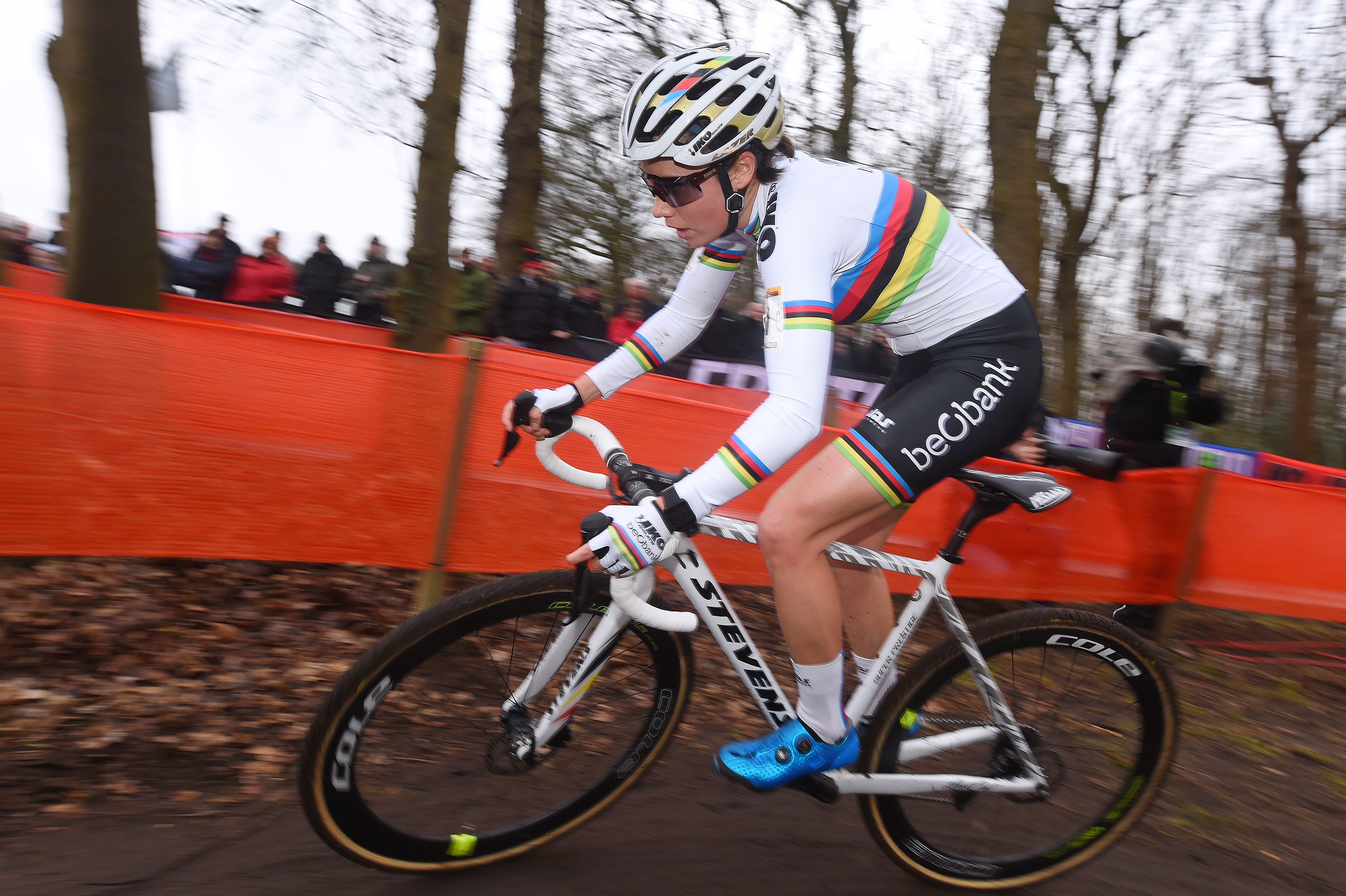Sanne Cant in action at the GP Adrie Van der Poel, Hoogerheide, 2018