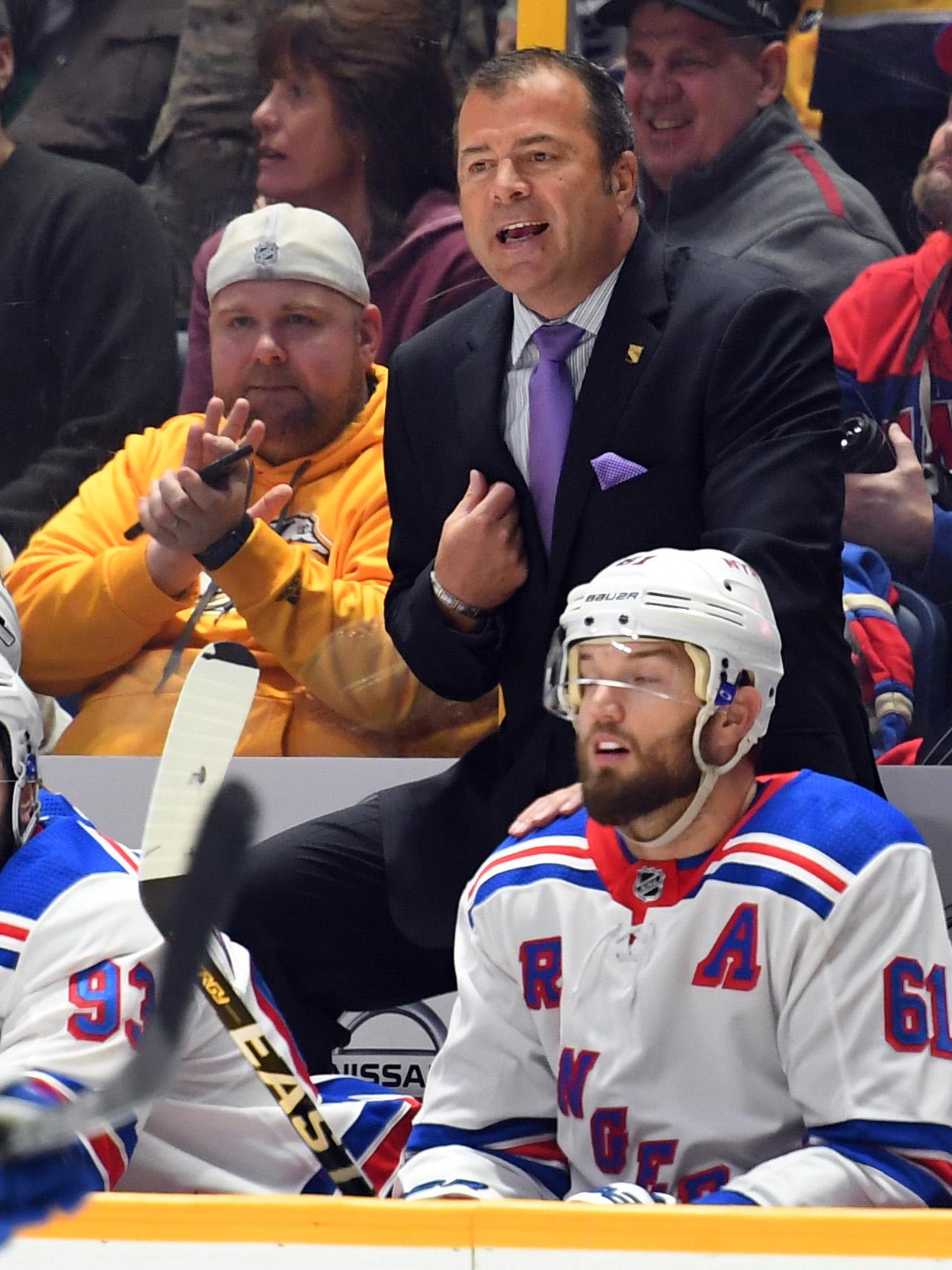 NHL: New York Rangers at Nashville Predators