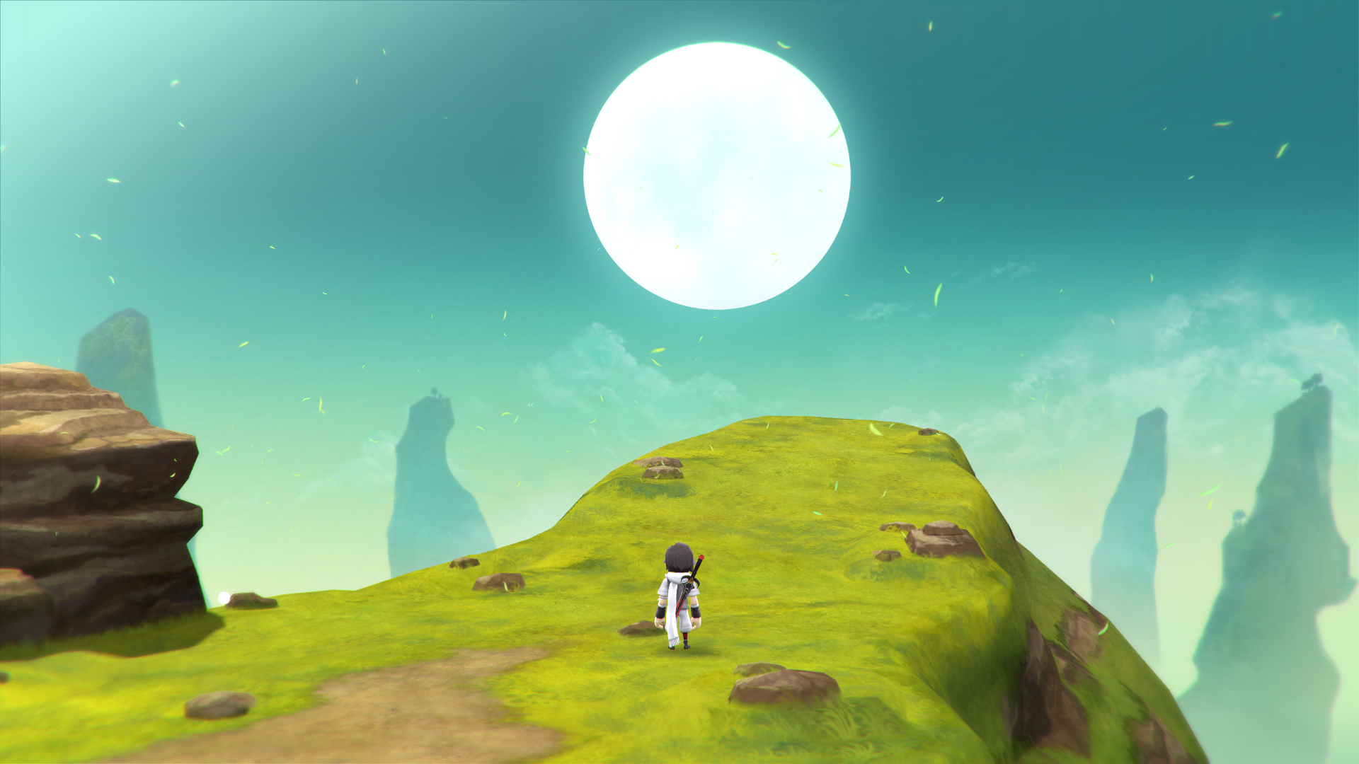 lost sphear character on hill