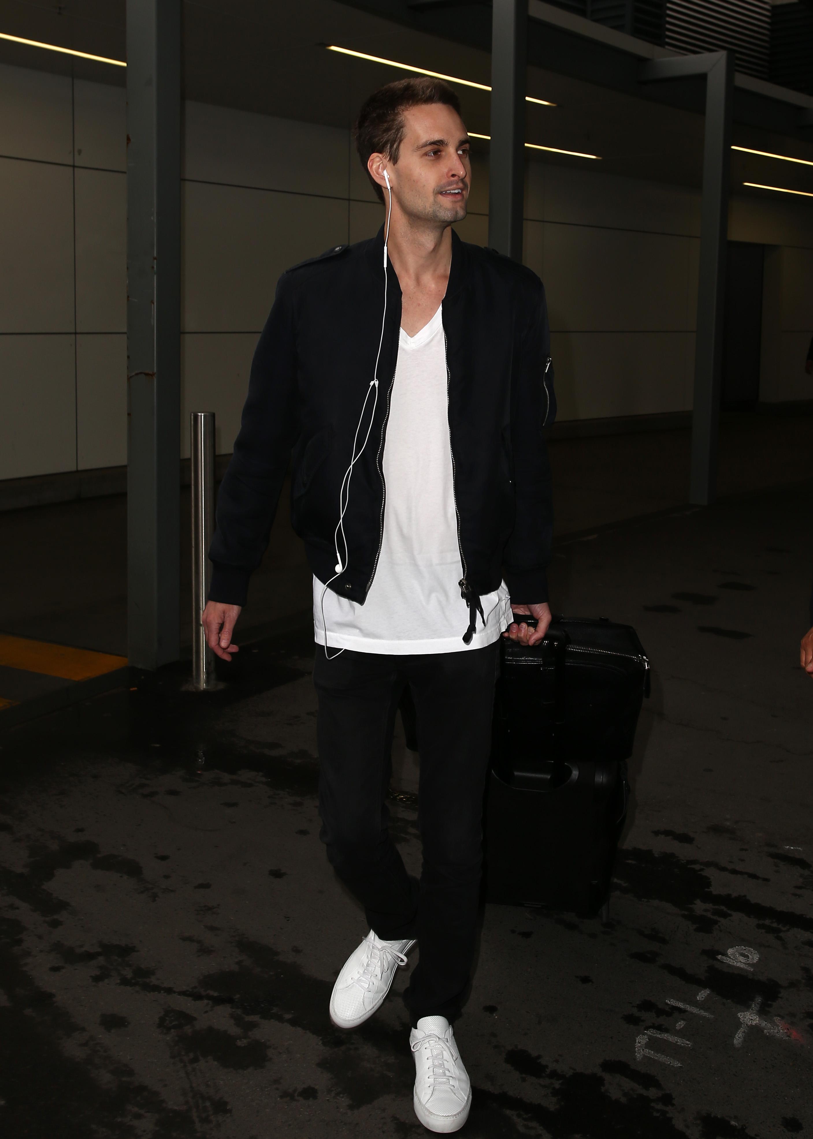 Evan Spiegel jets into Sydney