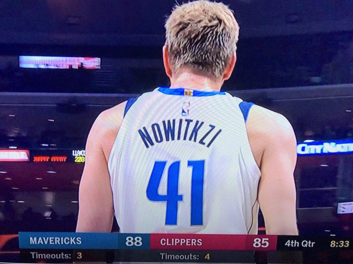 5782d9cbd Dirk Nowitzki s jersey was misspelled the night he broke 50