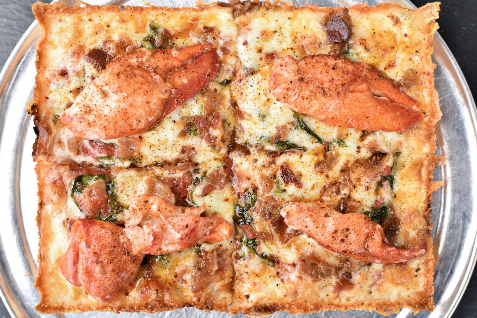 Via 313 and Garbo's lobster pizza