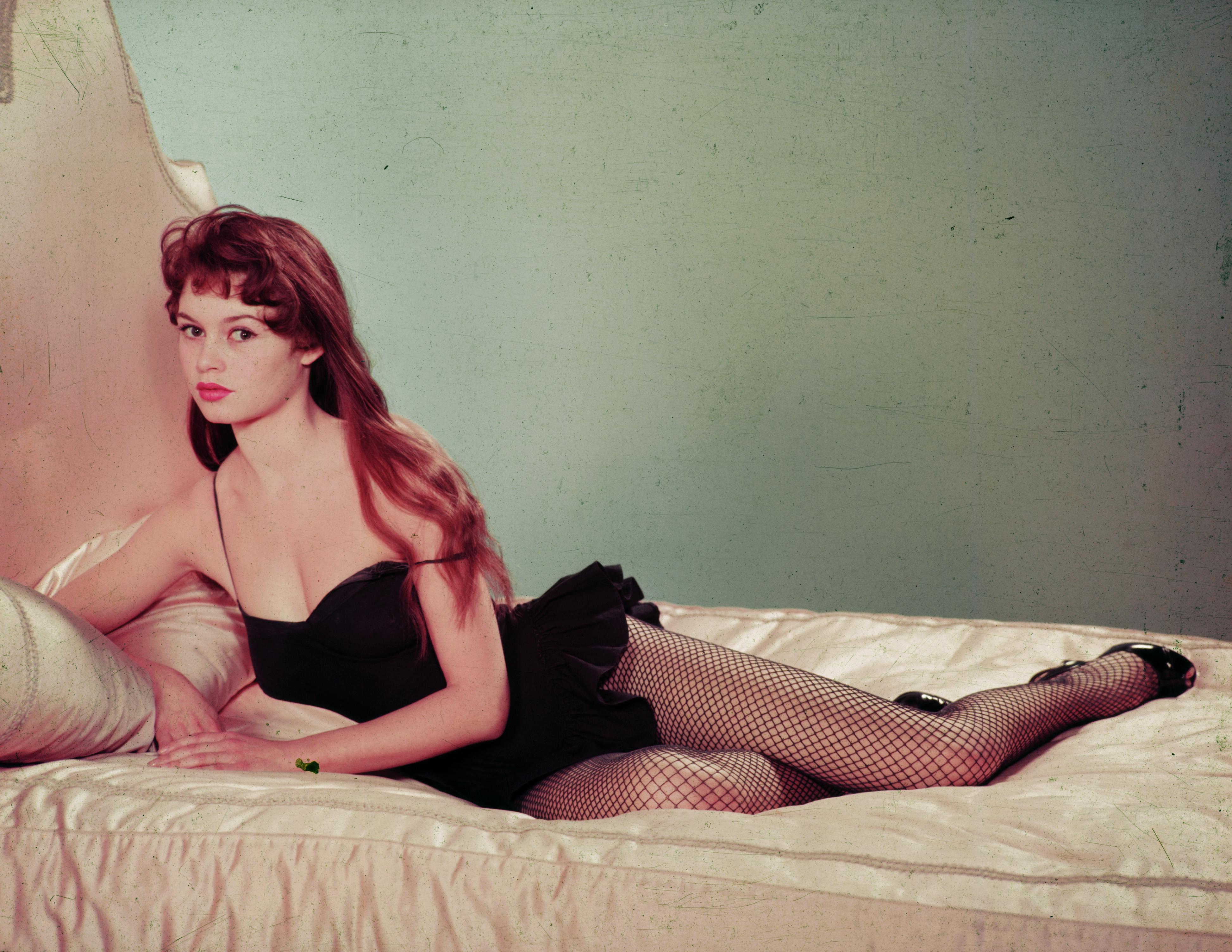 Brigitte Bardot in fishnets