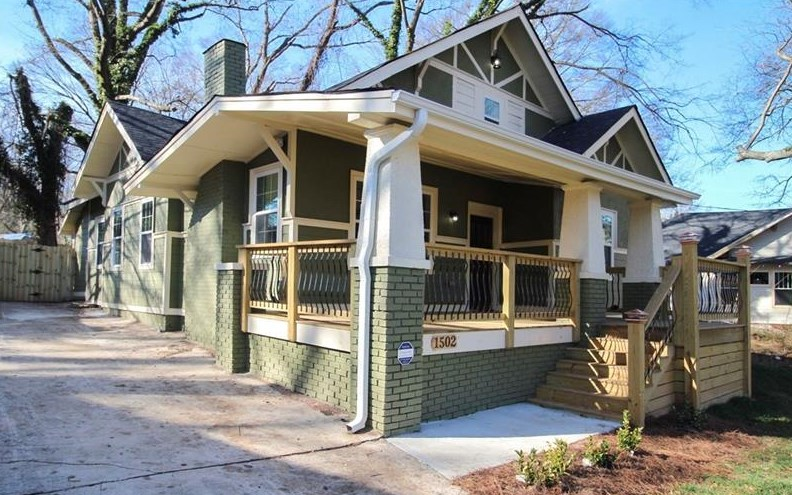 A renovated house in the Westview neighborhood of Atlanta.