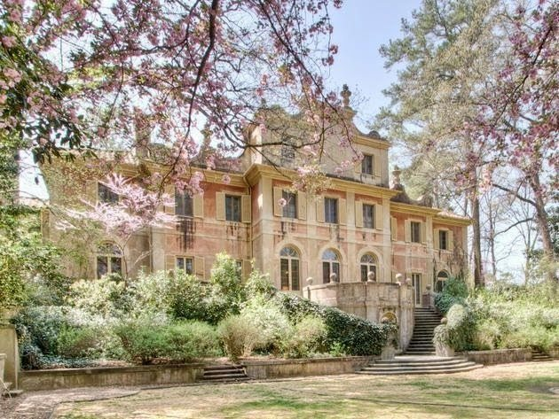 The ornate Italianate villa.