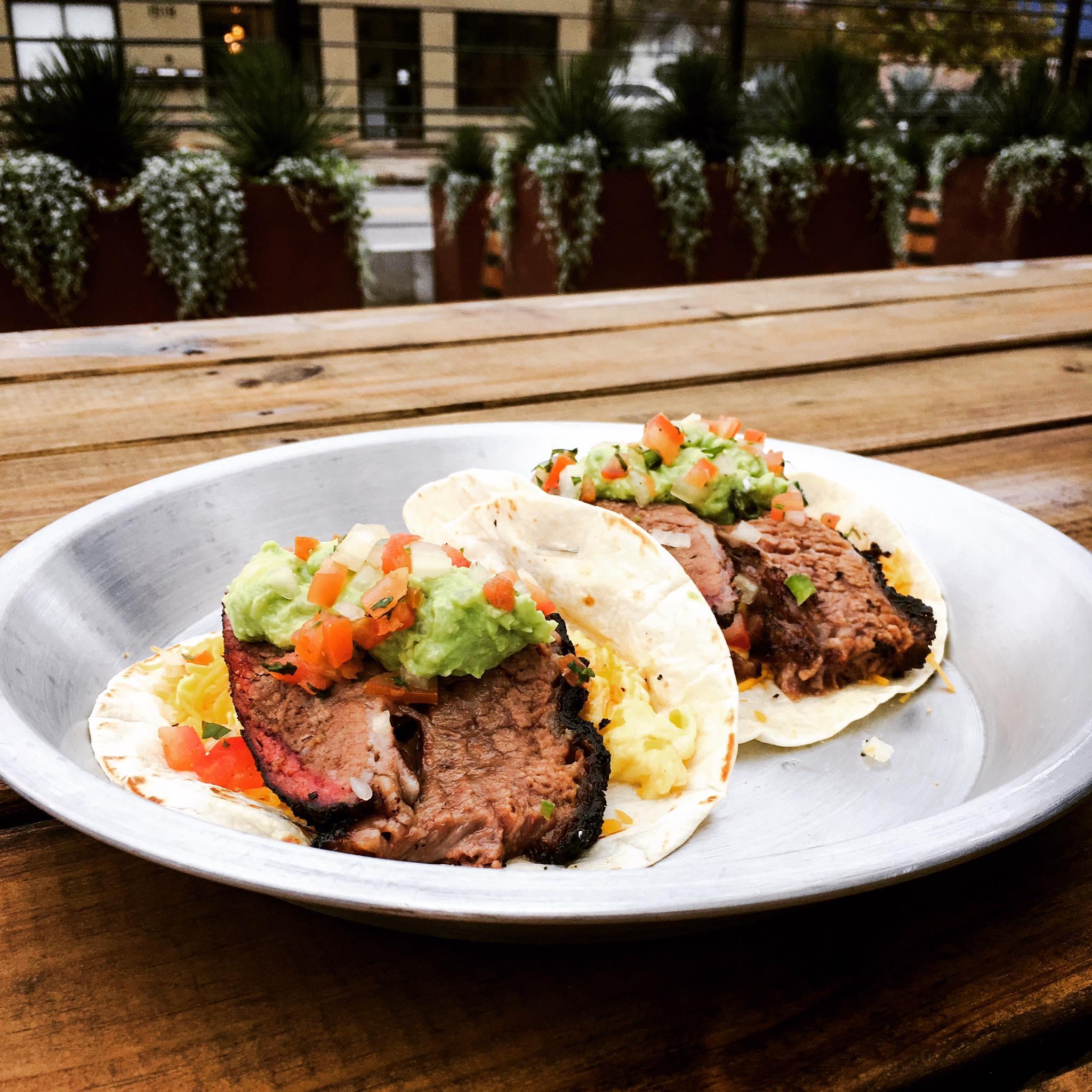 Brisket tacos from EastSide Tavern