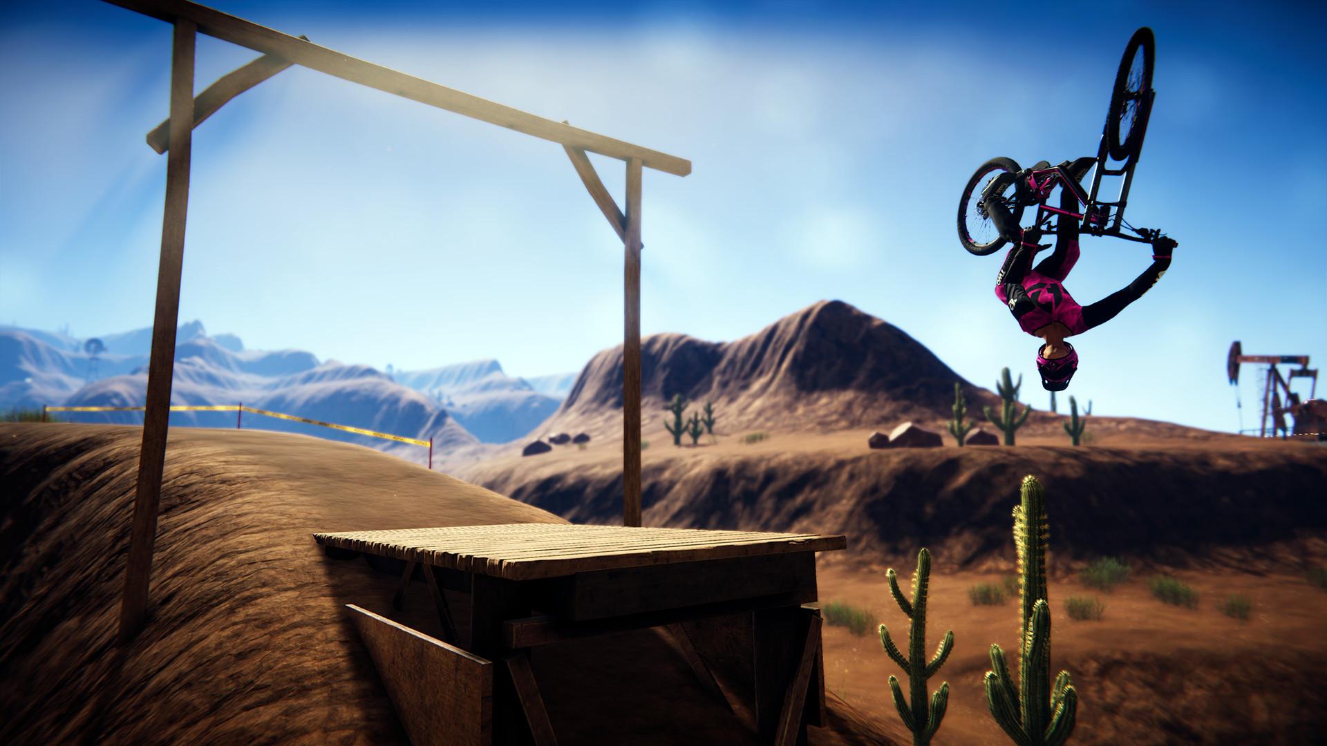 bike flipping in air Descenders