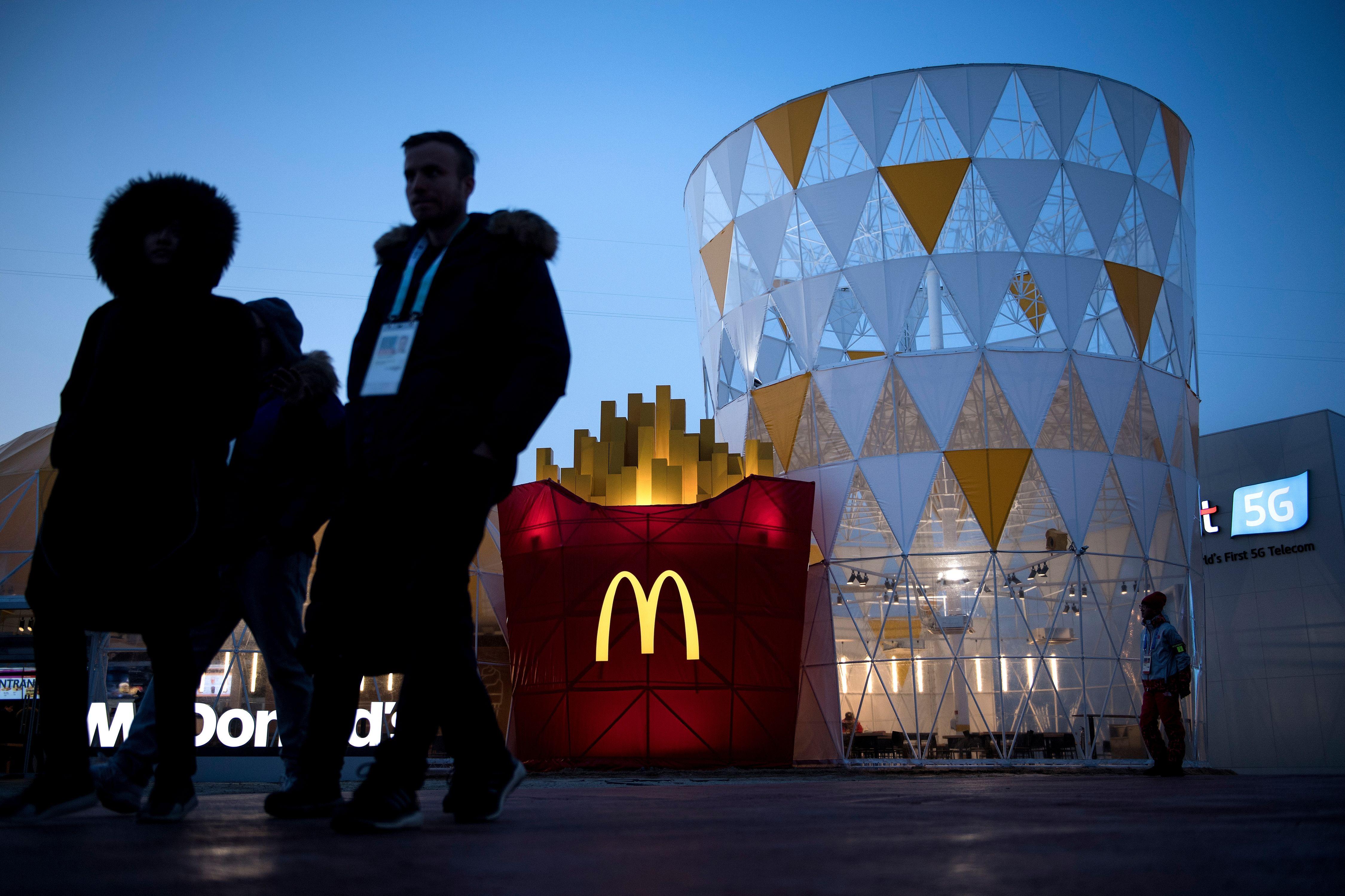 McDonald's at the Pyeongchang Olympic village