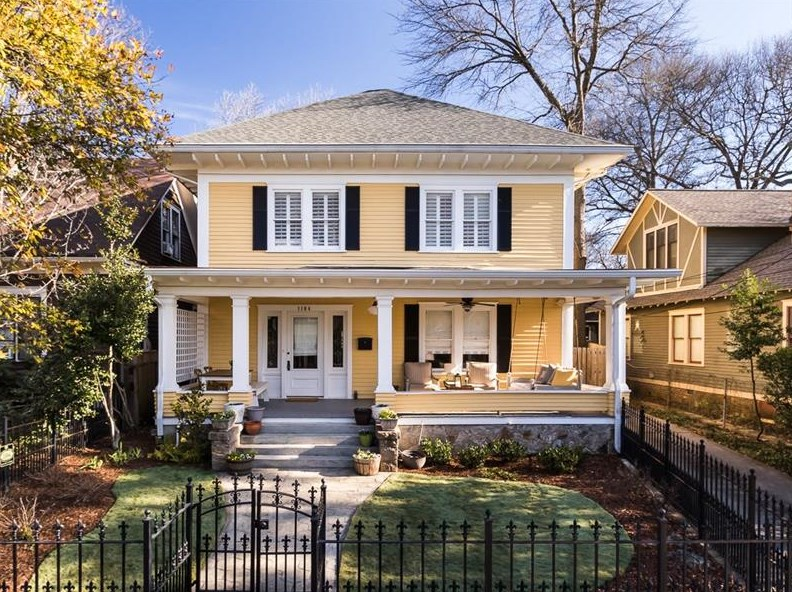 A home for sale in Atlanta's Inman Park neighborhood right now.
