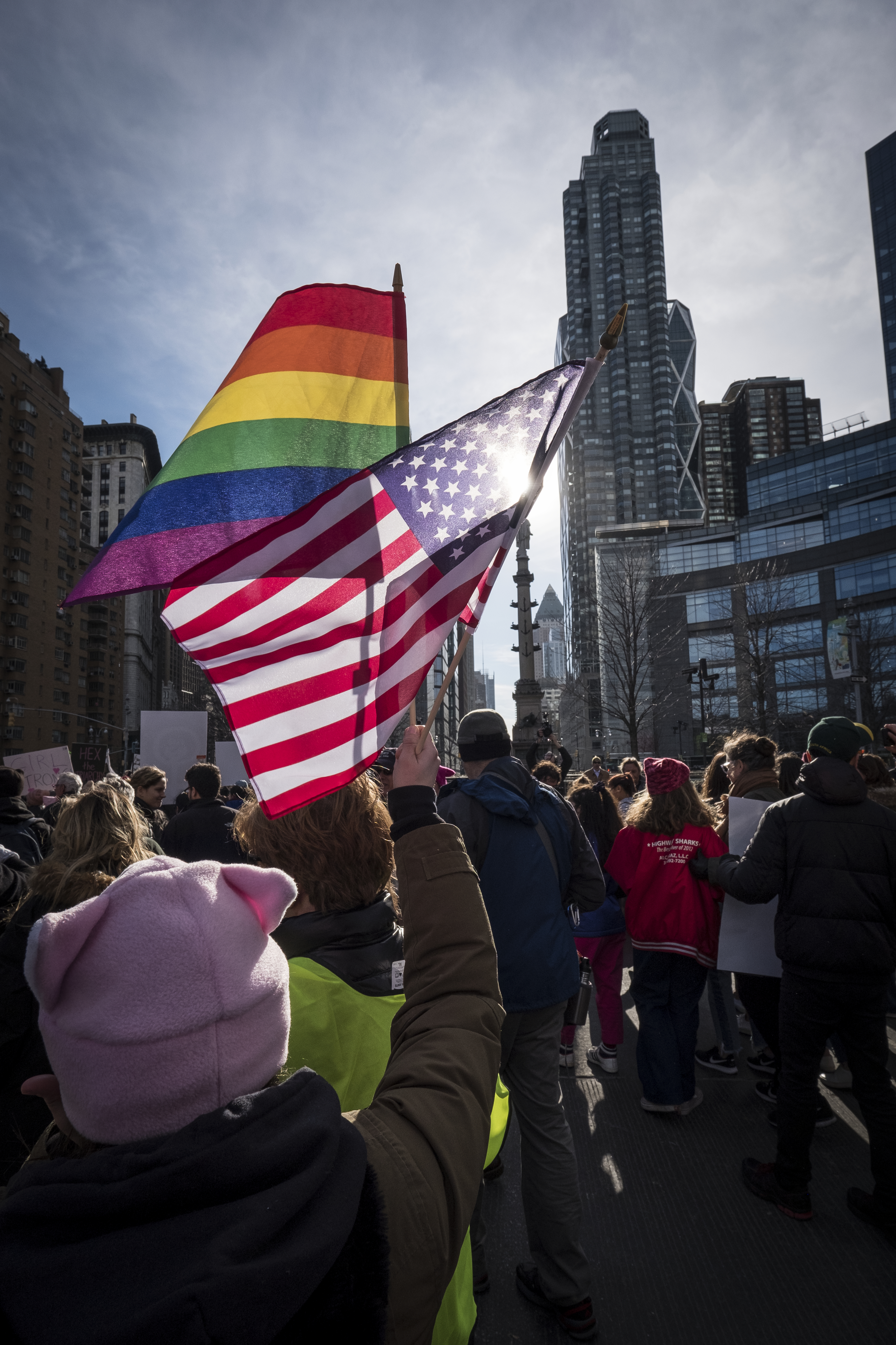 News- Women's March Protest in New York City