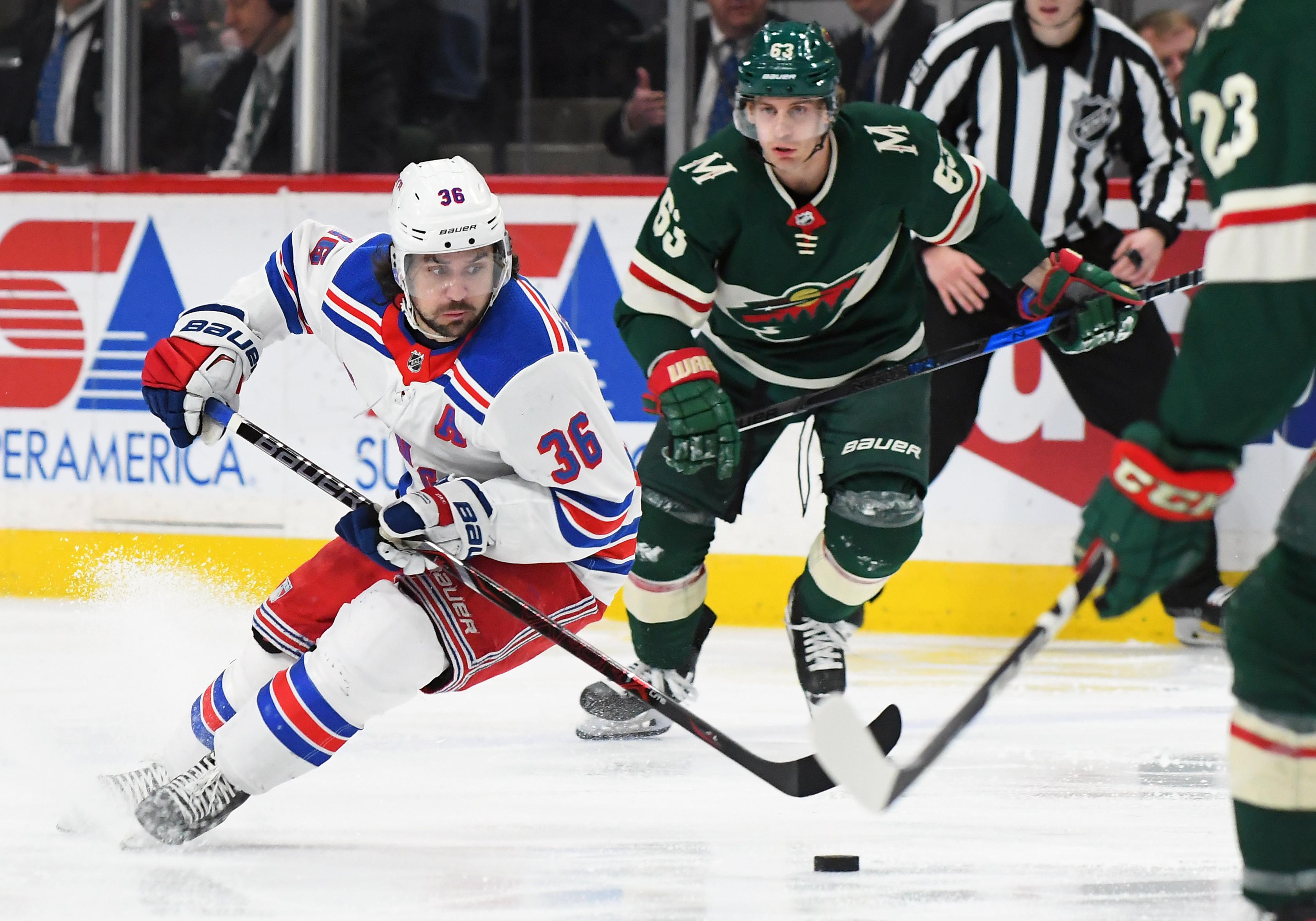NHL: FEB 13 Rangers at Wild