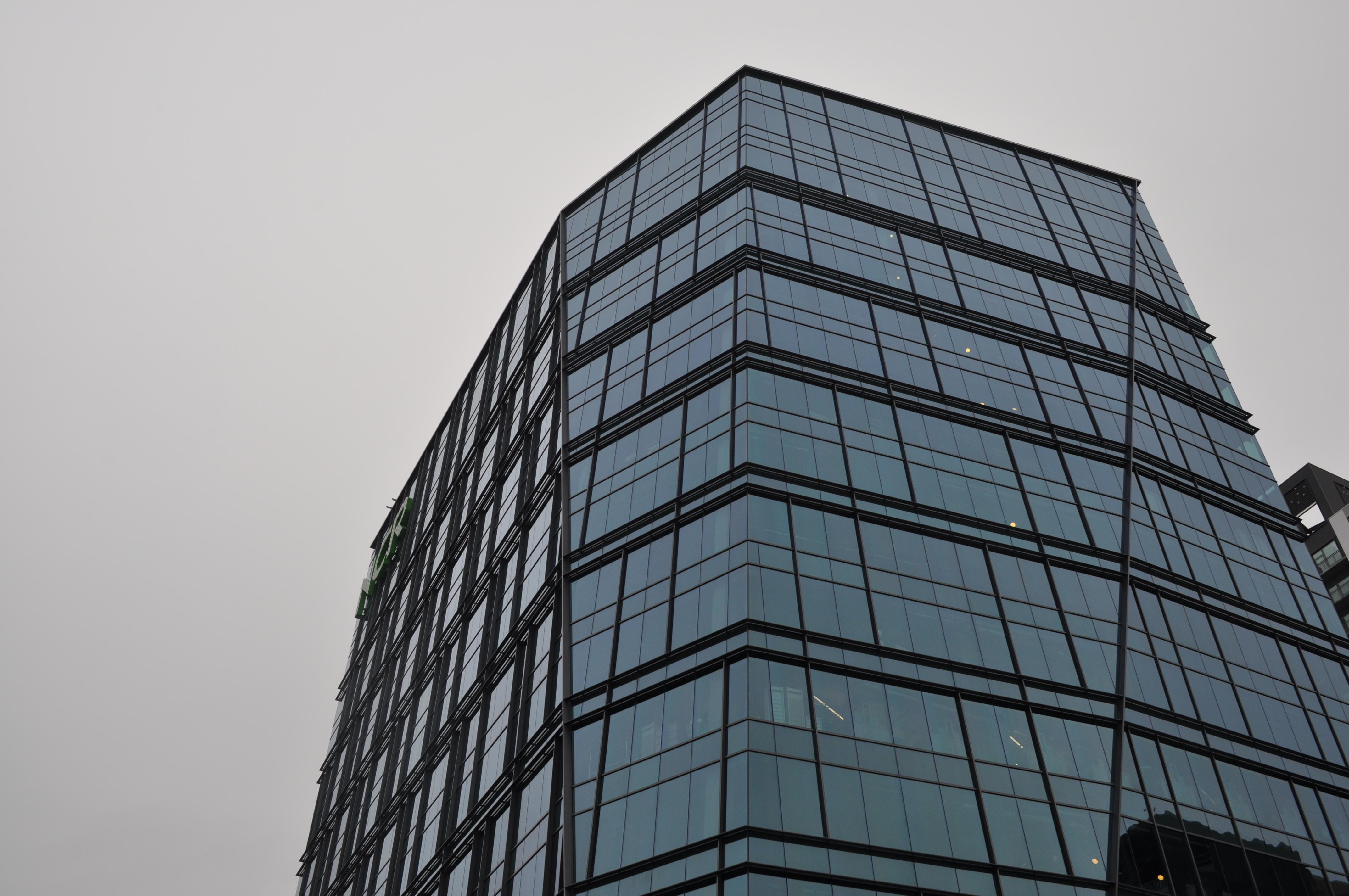 The faceted glass tower.