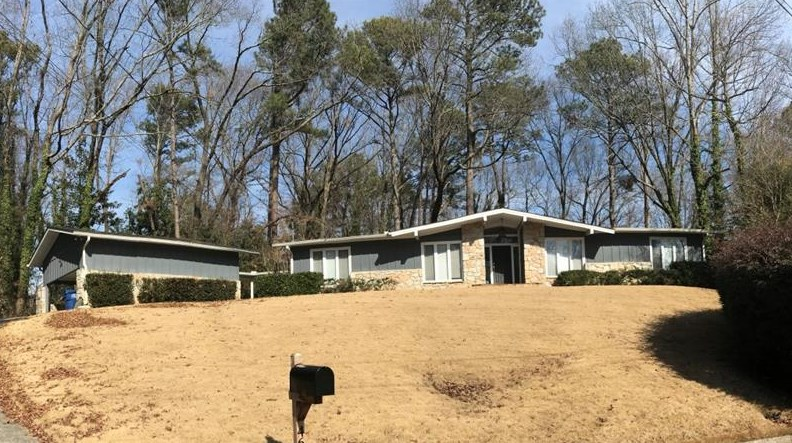 A midcentury modern home for sale in Atlanta right now.