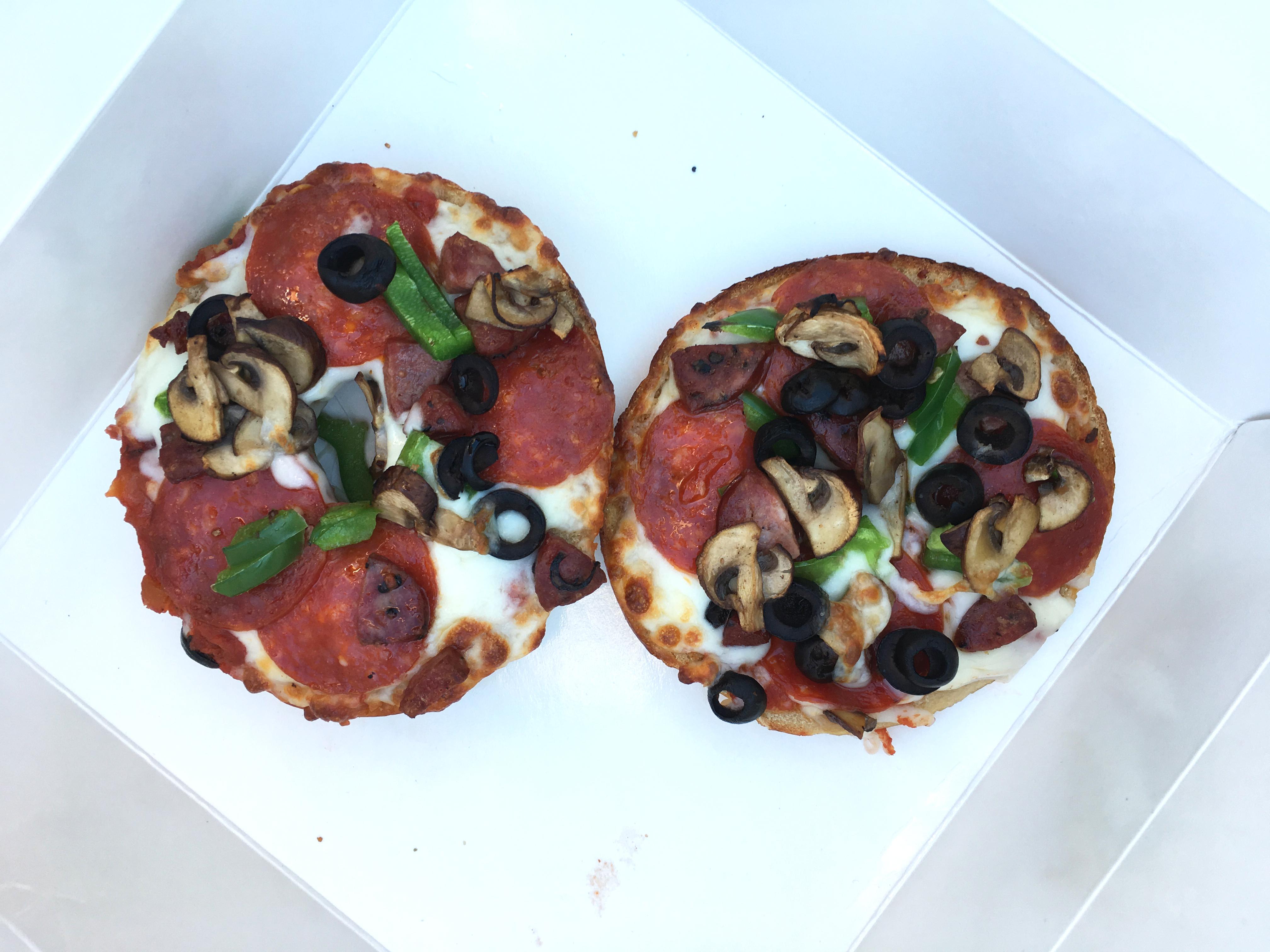 Rockstar Bagel's pizza bagels