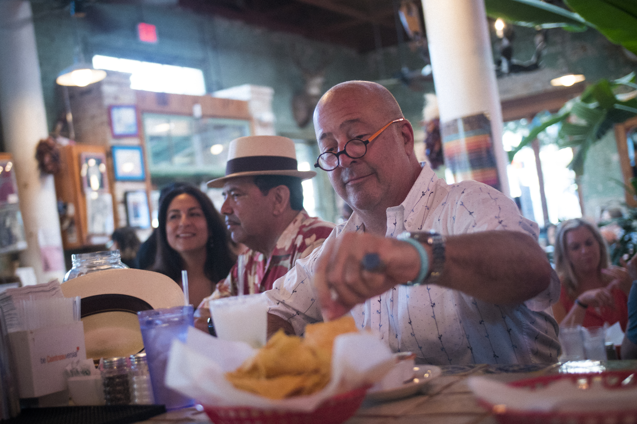 Andrew Zimmern at Guero's