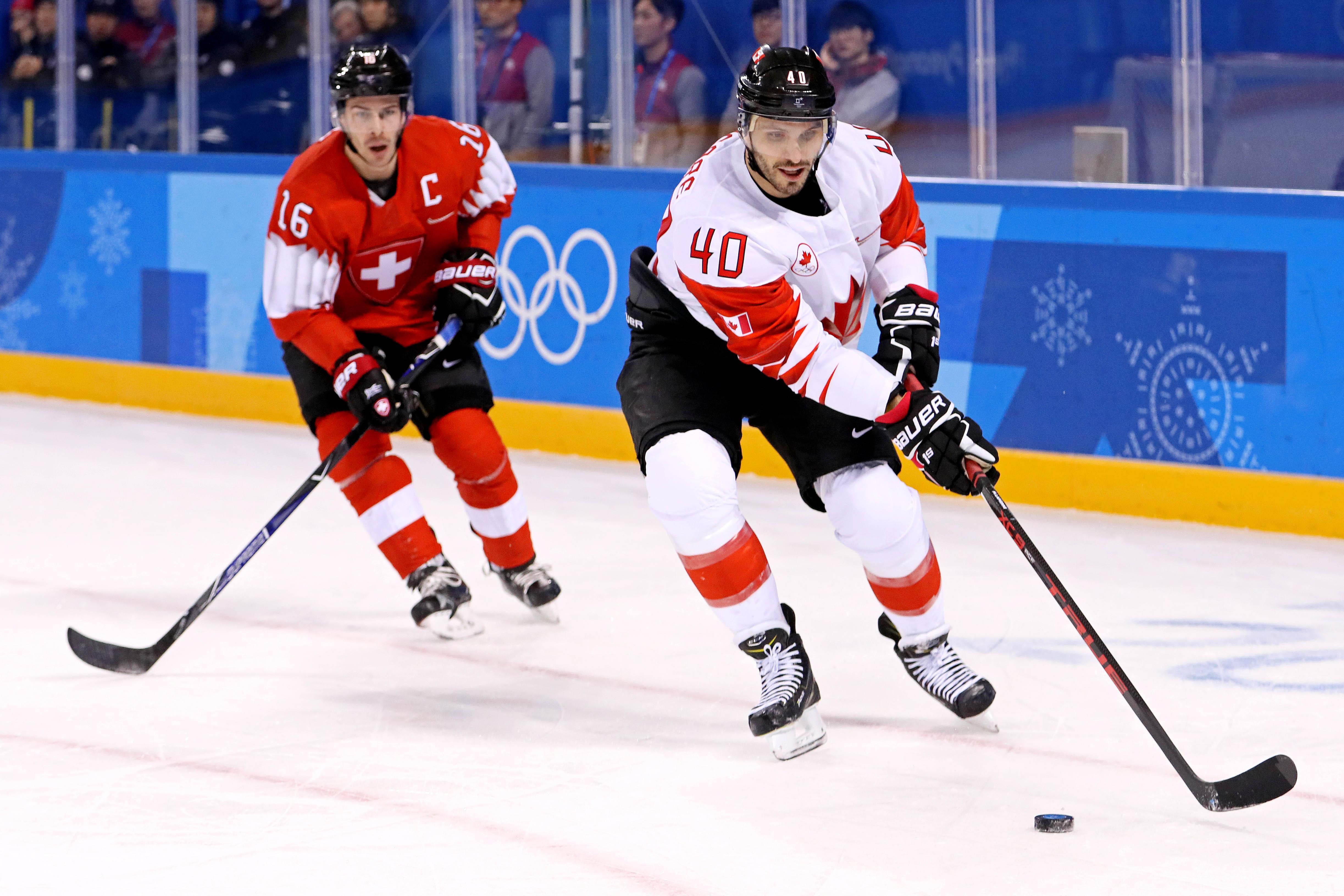 Olympics: Ice Hockey-Men Team Group A - SUI-CAN