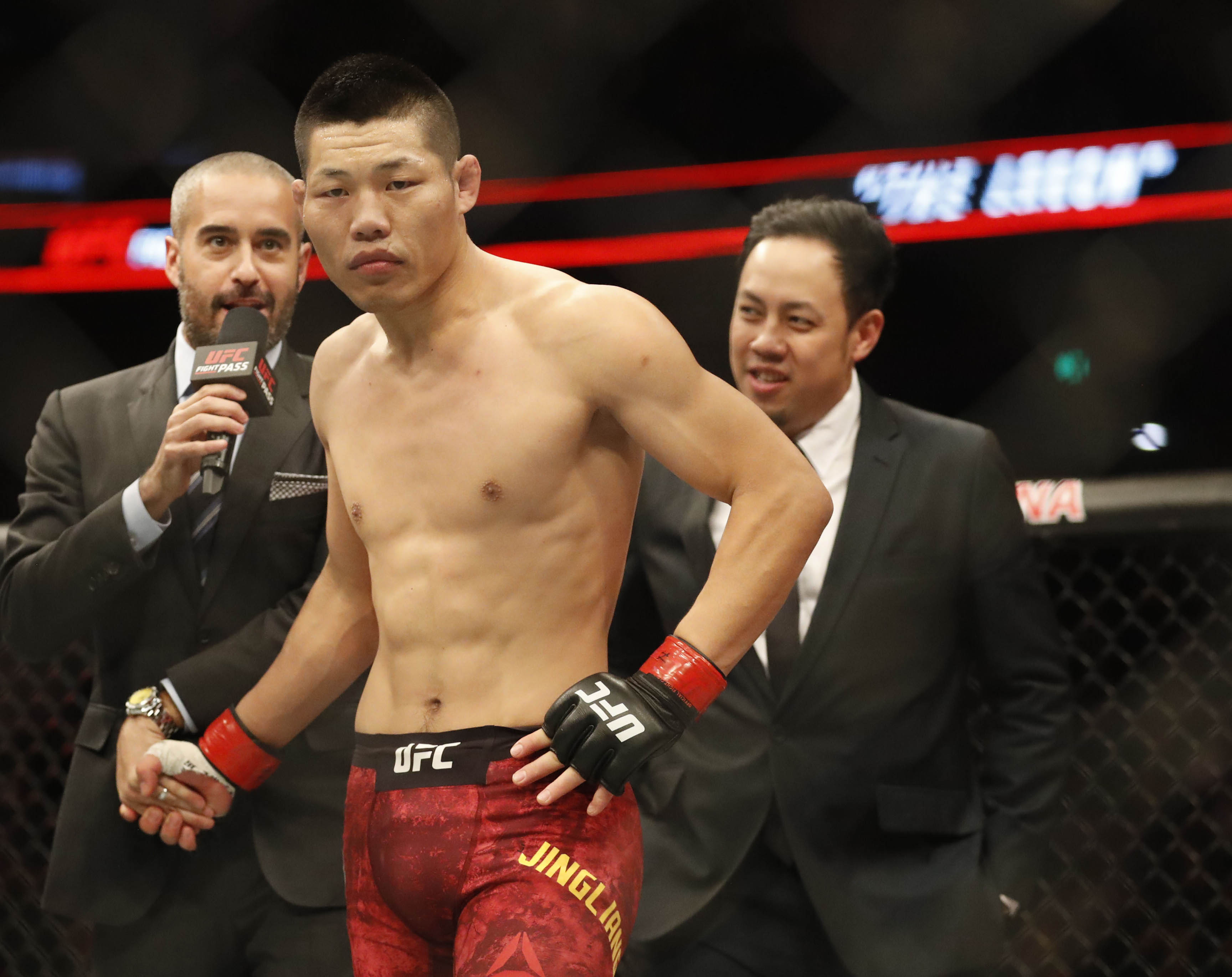 MMA: UFC Fight Night-Jingliang vs Ottow