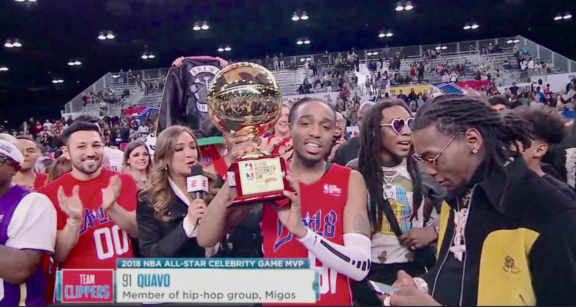 658fa138d Quavo of Migos wins MVP at the 2018 All-Star Celebrity Game