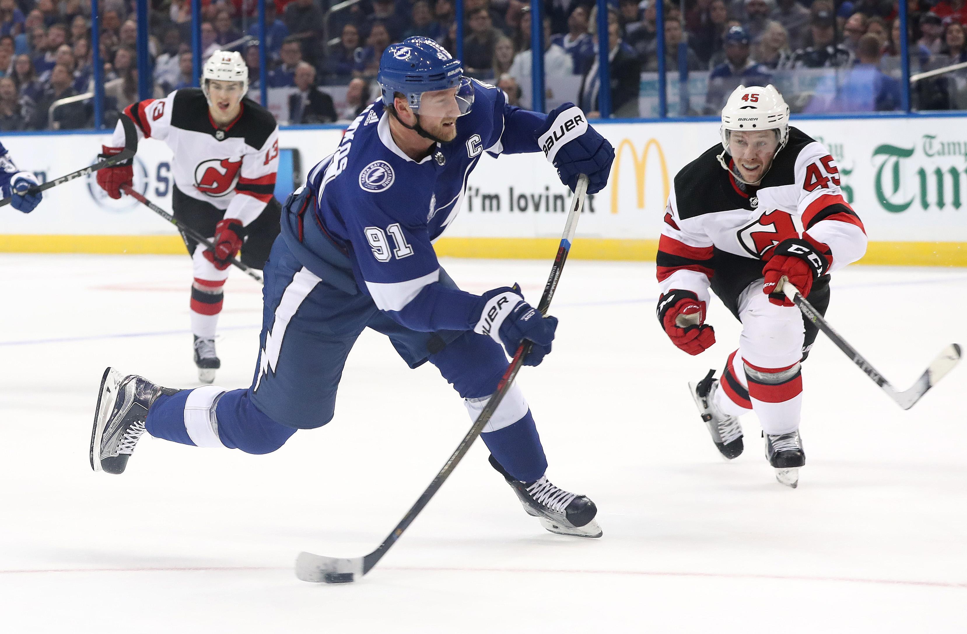 NHL: New Jersey Devils at Tampa Bay Lightning