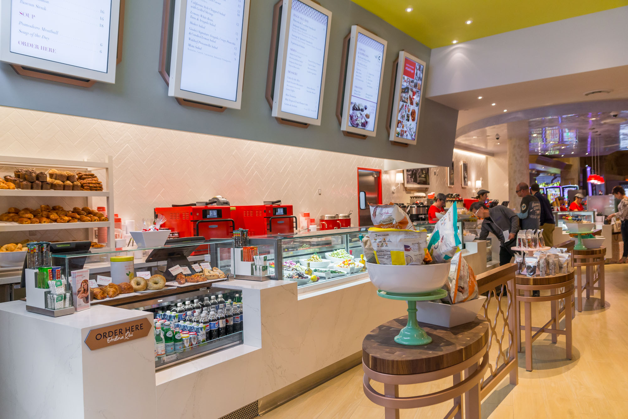 The counter at Pronto by Giada