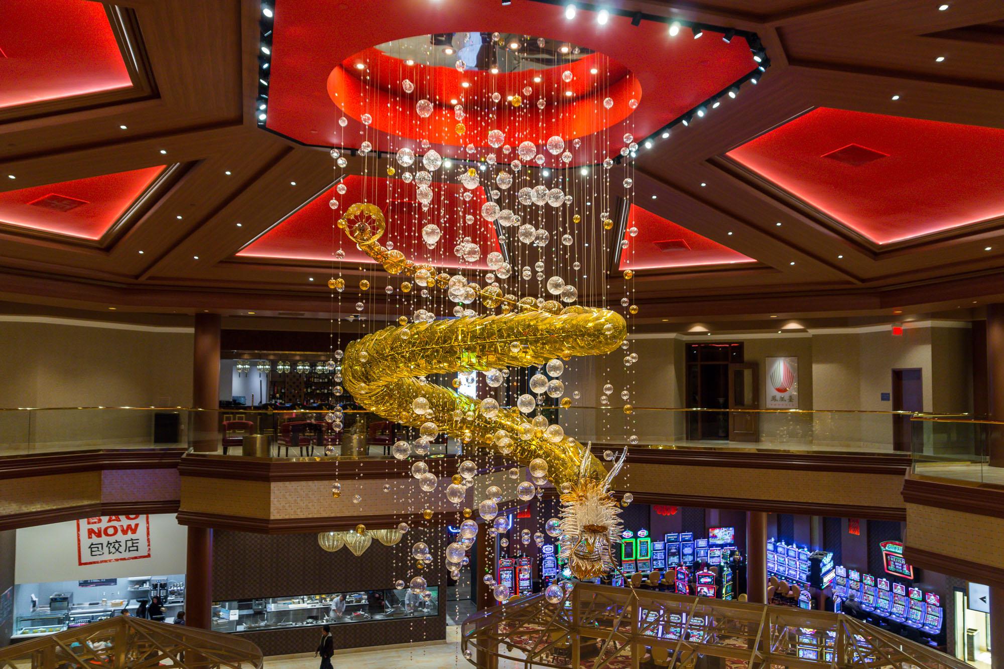 The casino floor at Lucky Dragon