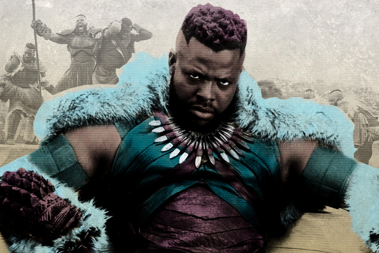 A photo illustration of Winston Duke as M'Baku in 'Black Panther'