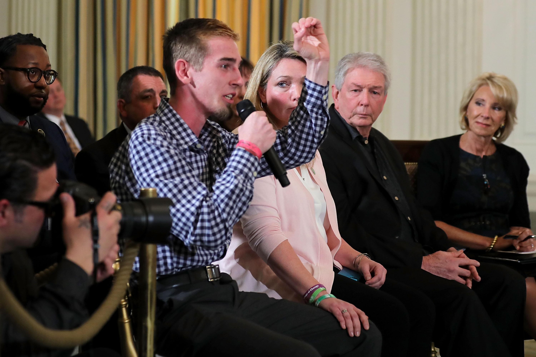 "Parkland shooting survivor Samuel Zeif to Trump: ""How did this not stop after Columbine?"""