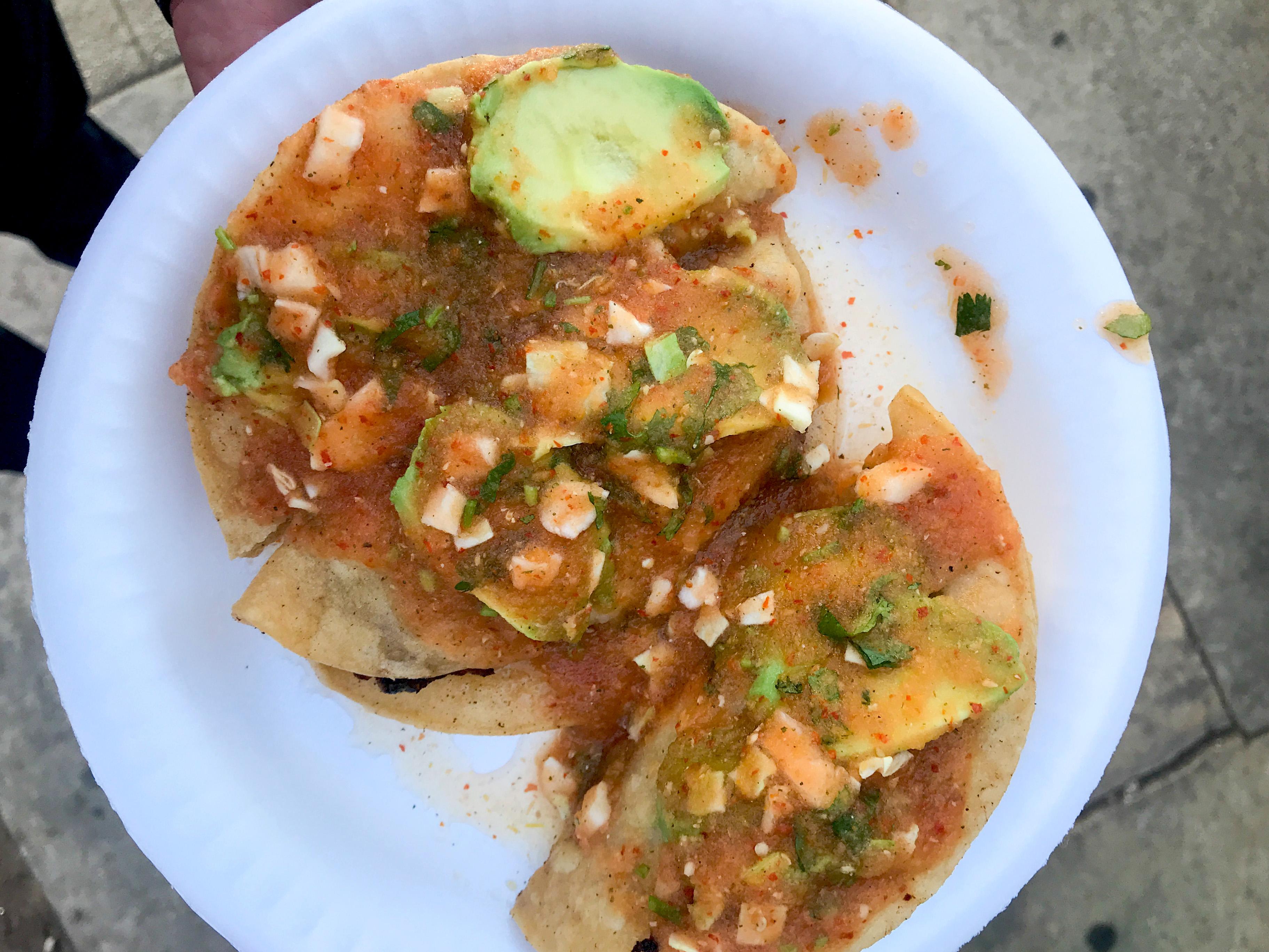 Mariscos Jalisco's crispy shrimp tacos