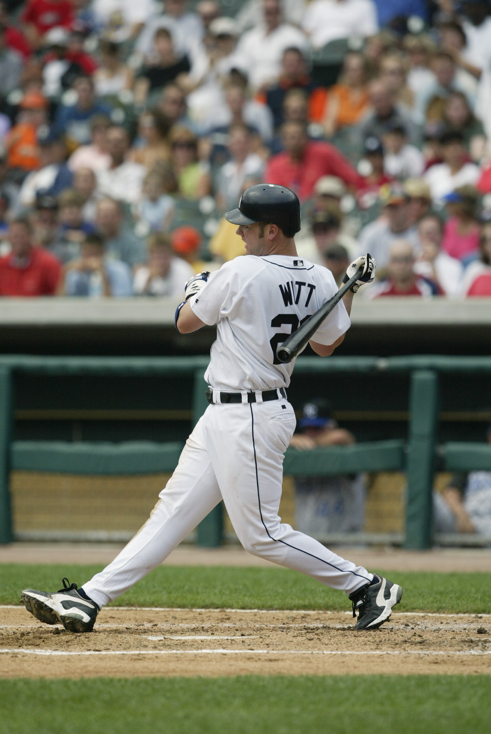 Kevin Witt swings at a pitch