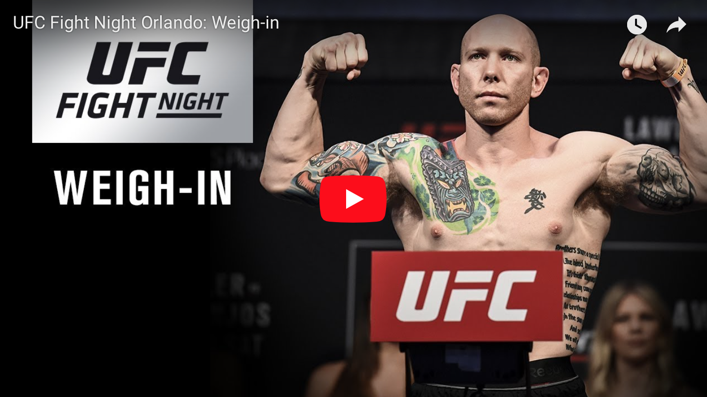 UFC Fight Night 152 Weigh-Ins: No Drama On the Scale in ...