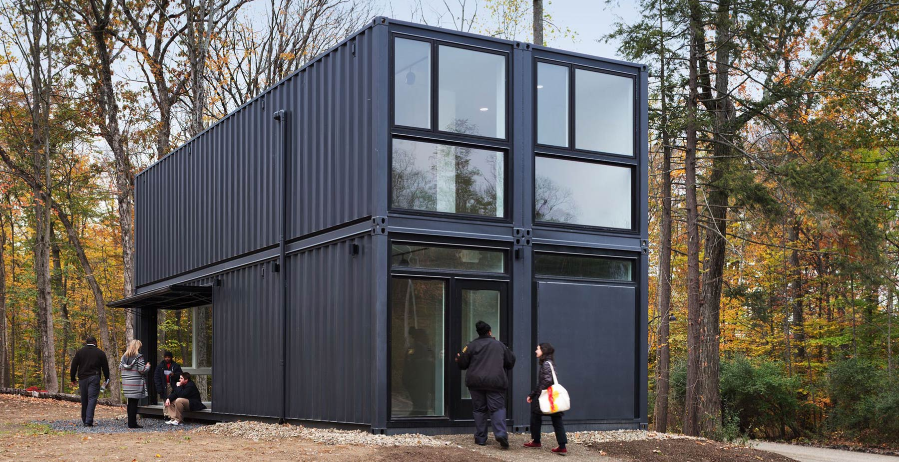 Shipping container prefab media lab