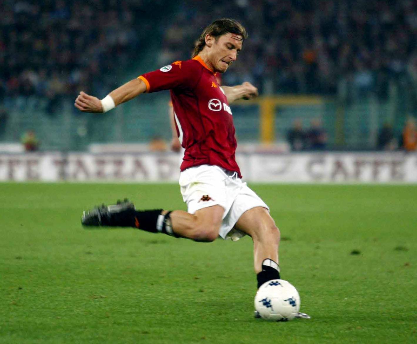 Francesco Totti of Roma in action