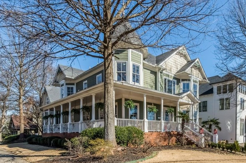A traditional home for sale now in Inman Park, Atlanta.