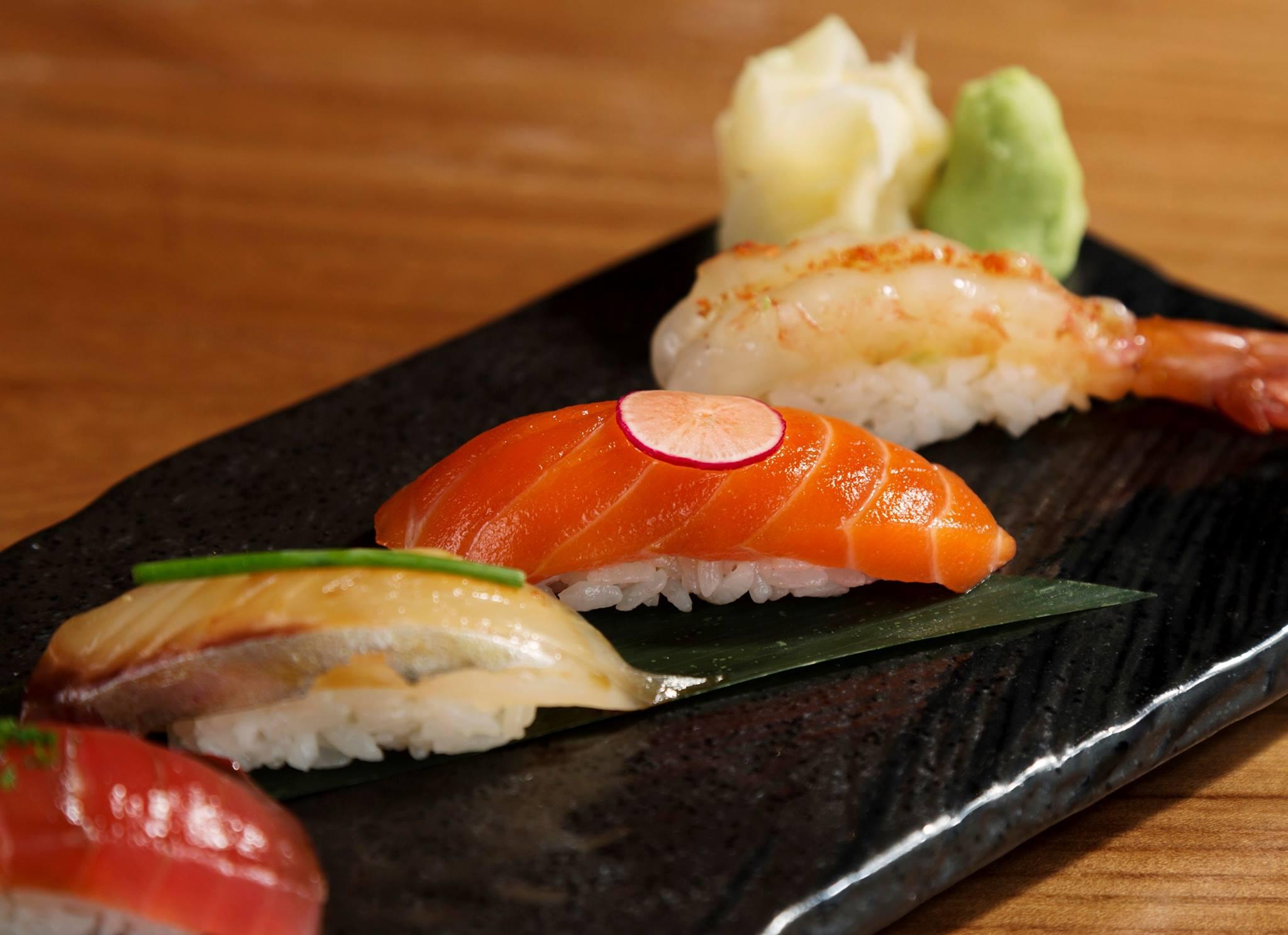 Salmon, shrimp, and more fruits of the sea await at Roka Akor