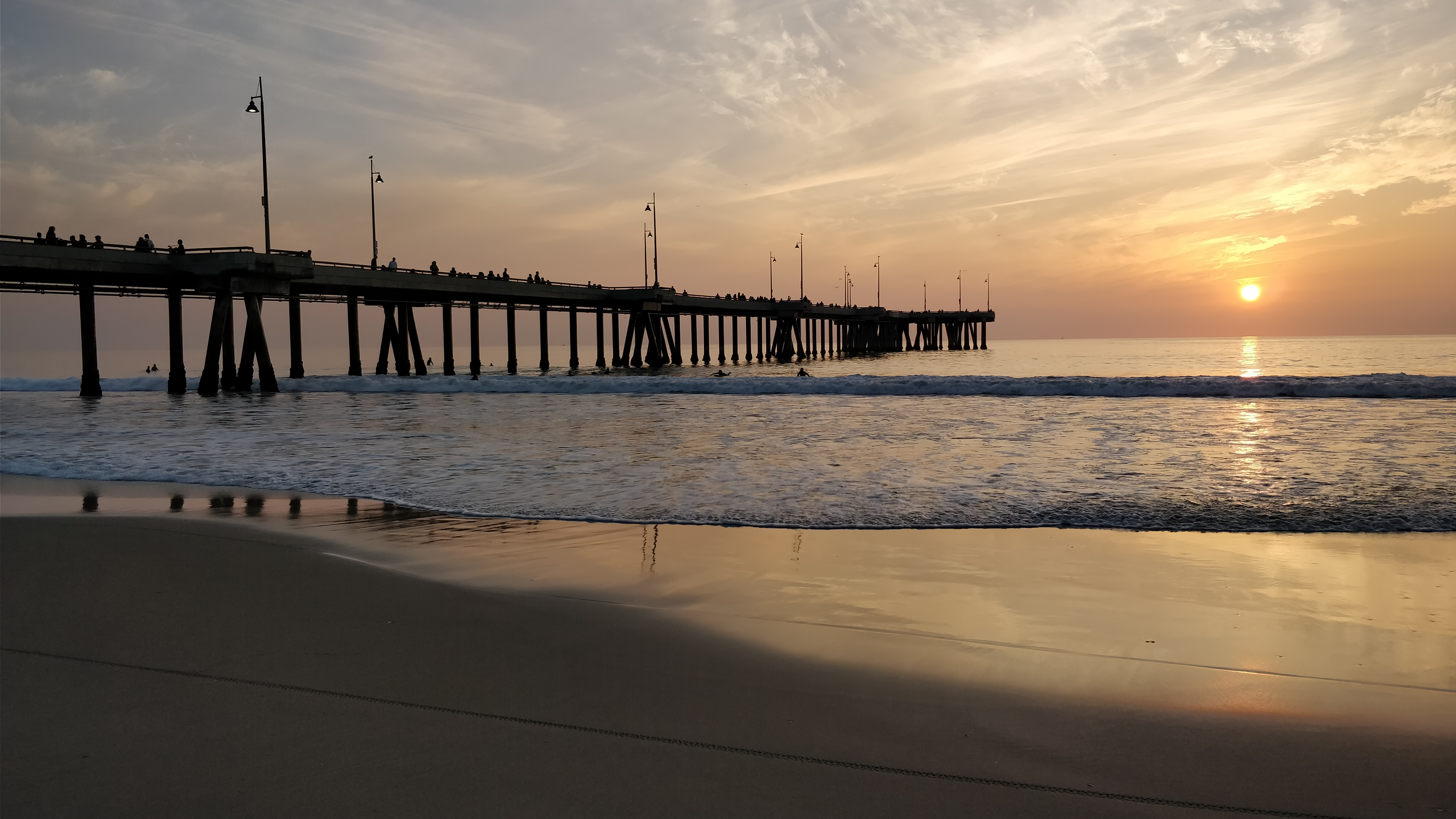 The Venice Pier at sunset