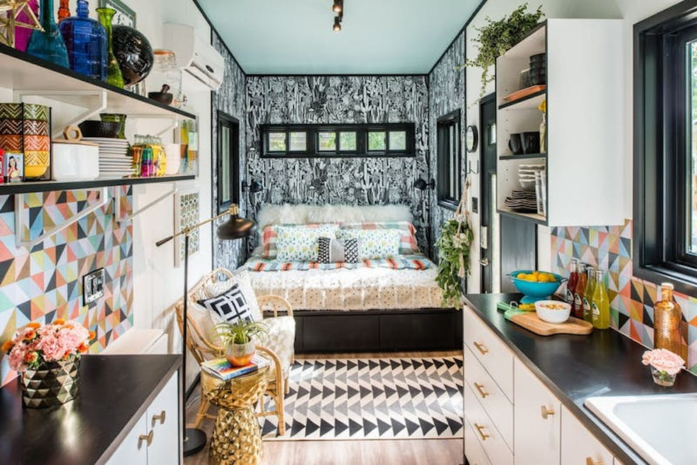 Eye popping maximalist tiny house has all the things