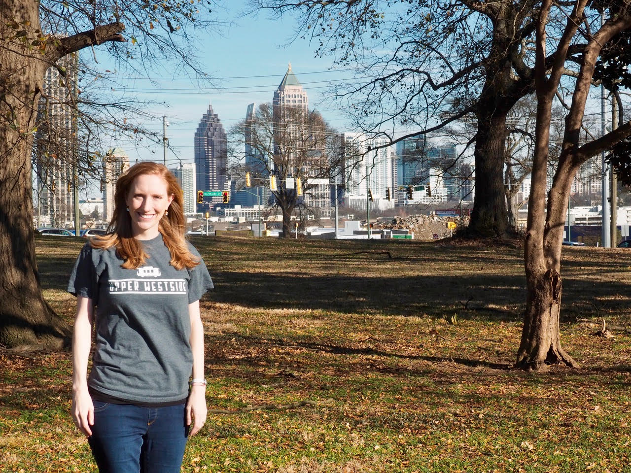 Elizabeth Hollister of the Upper Westside Community District stands in what's planned to be a manicured public park this year.