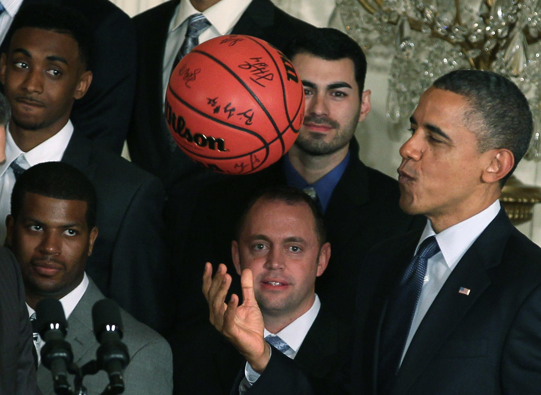 President Obama Hosts The University Of Kentucky Men's Basketball Team