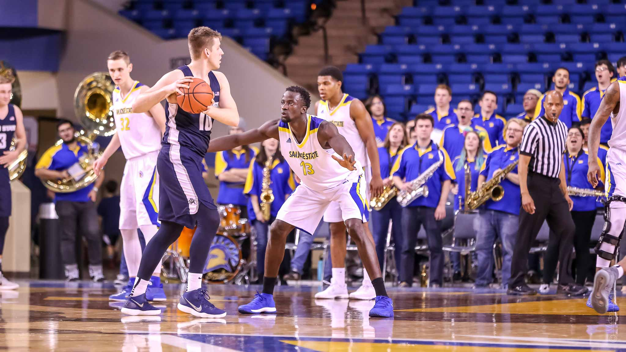 San Jose Spartans earn first conference win over Utah State Aggies, February 28, 2018